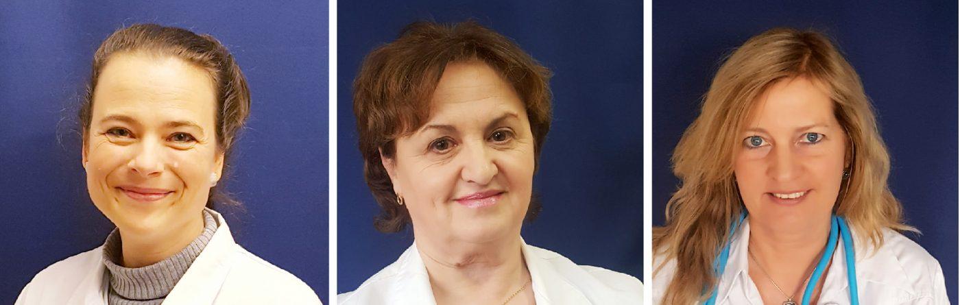 Portraits von Dr. Susanne Springborn, Ella Komissarenko und Dr. Nicole Ressel